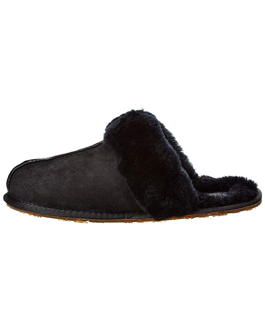 Australia Luxe Collective Suede Mule Slipper Black CMU206N L