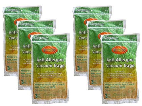 EnviroCare Replacement Allergen Vacuum Bags for Kenmore Canister Type C or Q 50555, 50558, 50557 and Panasonic Type C-5 18 ()