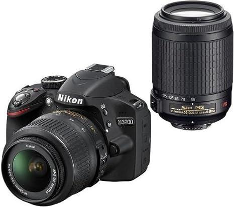 NIKON D3200 + objetivo AF-S DX VR 18-55 mm + objetivo AF-S DX ...