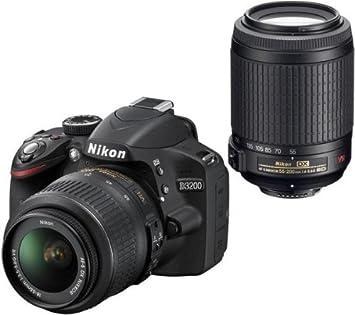 NIKON D3200 + objetivo AF-S DX VR 18-55 mm + objetivo AF-S ...