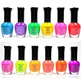#10: KLEANCOLOR NEON COLORS 12 FULL COLLETION SET NAIL POLISH LACQUER