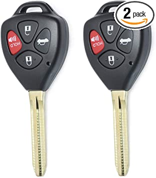 10*Uncut 4Button Replacement Remote Key Shell Case Fob for Toyota Camry Corolla