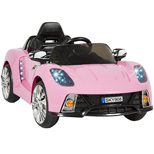 [Eight24hours 12V Ride On Car Kids W/ MP3 Electric Battery Power Remote Control RC Pink] (Batmobile Stroller Costume)