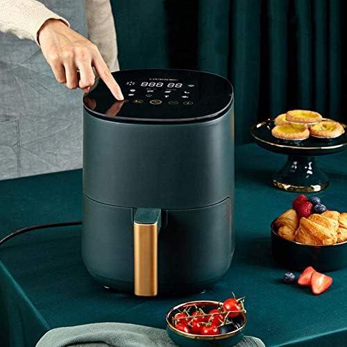 PLEASUR Luchtfriteuse voor thuis, geen brandstof, hoge capaciteit, elektrische friteuse, friet, machine, luchtfriteuse, olievrij, groen