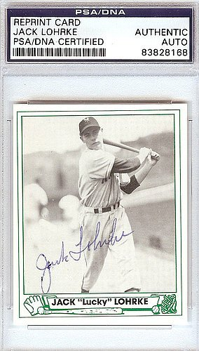 Jack Lohrke Signed 1947 Play Ball Reprint Trading Card #44 New York Giants - PSA/DNA Authentication - Autographed MLB Baseball Cards from Sports Collectibles Online