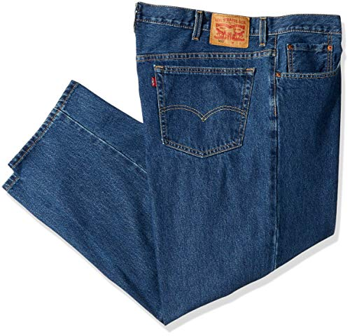 Levi's Men's 560 Comfort Fit Denim Jeans, Dark Stonewash, 44x32 (Levis Loose Boot)