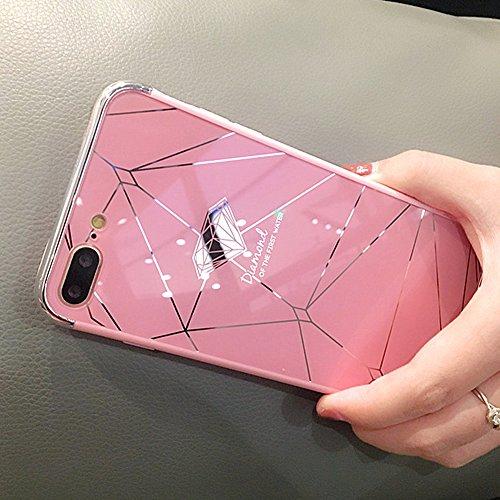 Funda Case iPhone 6/6S Plus silicona,Ukayfe Carcasa Espejo iPhone 6/6S Plus Mirror Case,Ultra fina de Tpu funda de silicona espejo brillante Cover Case, brillantes cristal Bling Gliter Espejo