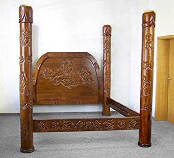 Erotik Im Schlafzimmer | Kamasutra Bett 200 X 200 Doppelbett Holz Erotik Exklusiv Nussbaum