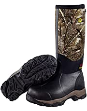 DRYCODE Hunting Boots for Men, Waterproof Insulated Warm Rubber Boots, Durable Outdoor Rain Boots Neoprene Mens Boots (Size 5-14)