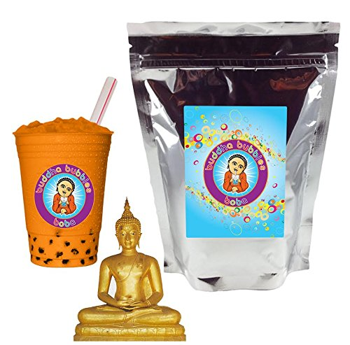 Thai Boba/Bubble Tea Powde By Buddha Bubbles Boba 1 Pound (16 Ounces)   (453 Grams) (Best Things In Taichung)