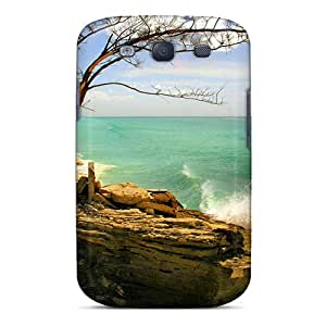 New Tree In A Rock On Beach In Bimini Tpu Skin Case Compatible With Galaxy S3