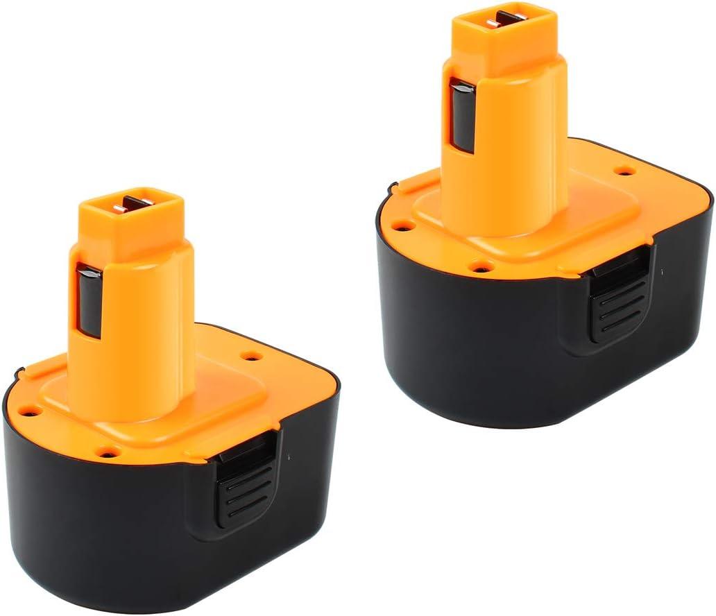 Powtree 2 Pack 12V 3.5Ah Ni-MH Replacement Battery for Dewalt DC9071 Battery Pack Compatible with Dewalt DW9071 DW9072 DC9071 DE9072 DE9074 DE9075 DE9037 Cordless Power Tool Battery