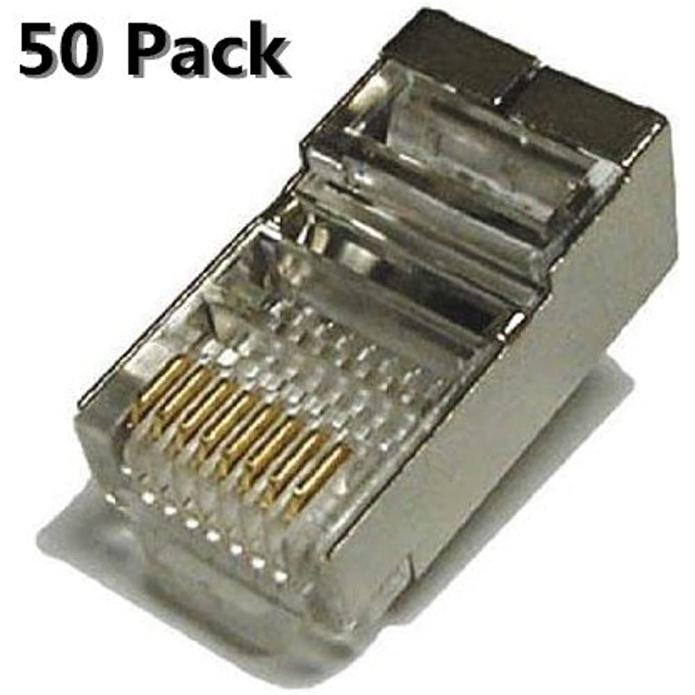 Rj45 8p8c Plug Connector For Stranded Or Solid Cat6 Wire