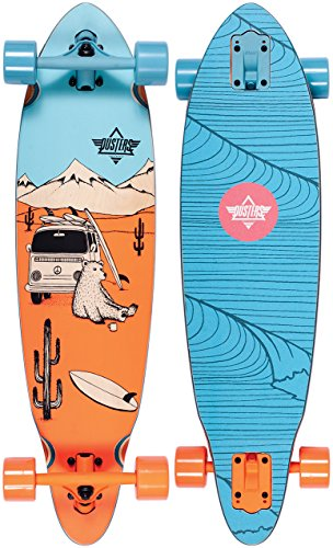 Dusters 10531221 Wagon Longboard, Blue/Orange, Size 33