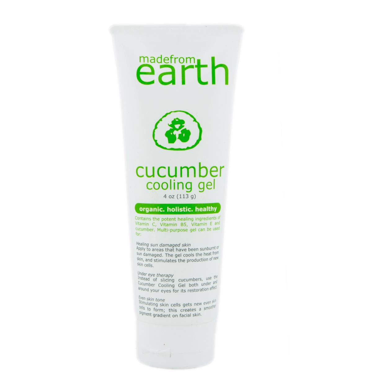 Made from Earth Cucumber Cooling Gel - Organic Cucumber, Aloe Vera and Vitamin C by Made from Earth
