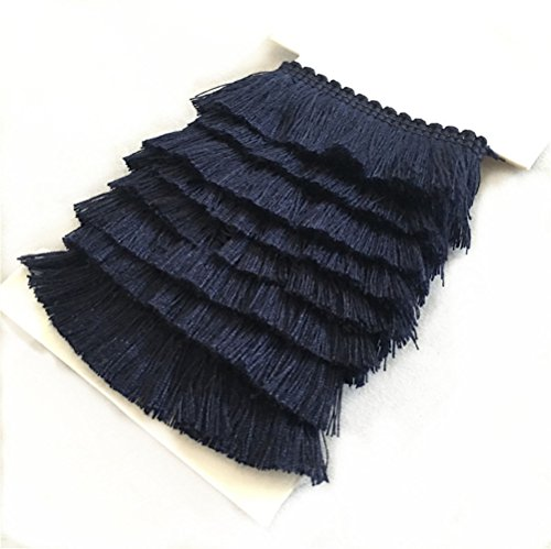 on Fringe Tassel Trim 5 Yards (navy) (Cotton Tassel Trim)