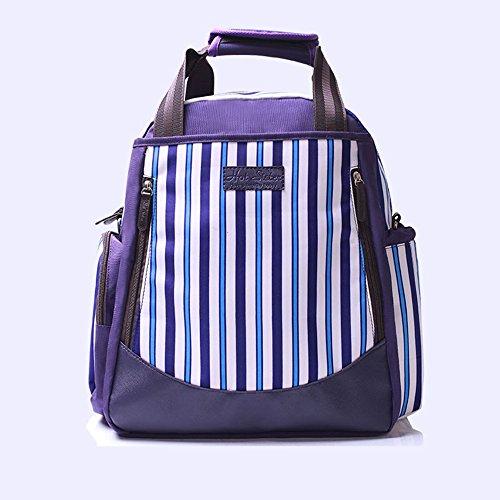 Bolso multifuncional de la mamá de gran capacidad, paquete de las mujeres embarazadas del bebé, manera va bolso de la madre del hombro, bolso del bebé de la madre ( Color : Rosa Roja ) Purple