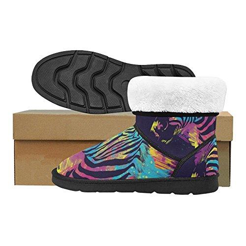 D-story Fashion Mujeres Zapatos Flamingo High Top Mujeres Snow Botas Color9