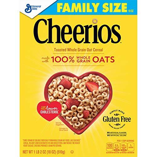 amazon com cheerios gluten free breakfast cereal 21 oz family