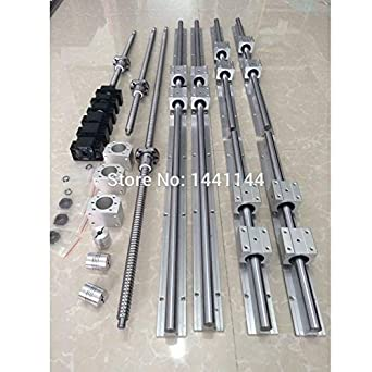 1 ballscrew RM1605-1000mm-C7+BK//BF12 end bearing+SBR20 linear guide rail set CNC