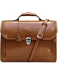 Floto Venezia Limited Brown Leather Briefcase Attache Lap-top Case