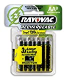 : Rayovac NM715-8 Rechargeable NiMH AA Batteries, 8-Count Package