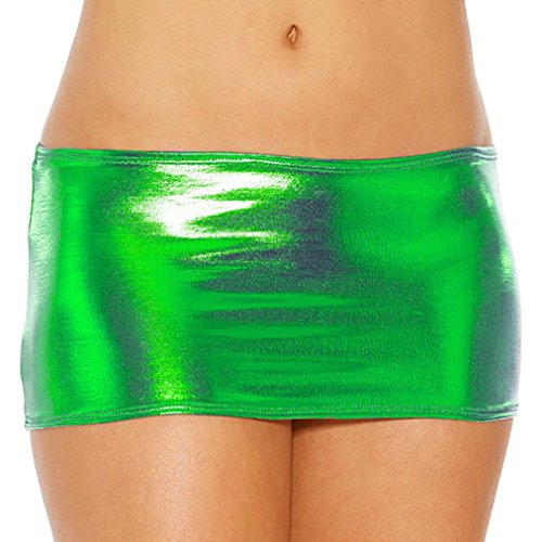 Lingerie da Donna ?? Fami Womens Solid Bare Imitation Leather Lingerie Skirt Sexy Slim Buttocks Short Straight Mini Skirt Underwear (Viola#2, Free size) Verde#1