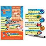 Quick Stick Write-on! Child ID Tattoos NEW (Beach 6pk.)