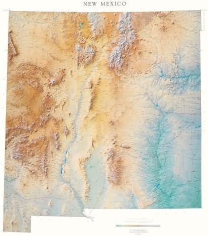 Nuevo México topográficos mapa mural de Raven de mapa de Europa ...