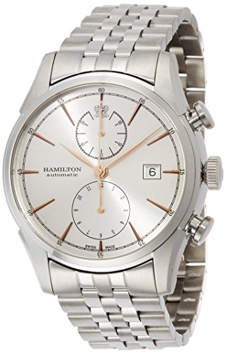 Hamilton Men's Timeless Classic Swiss-Automatic Watch with Stainless-Steel Strap, Silver, 22 (Model: H32416181)