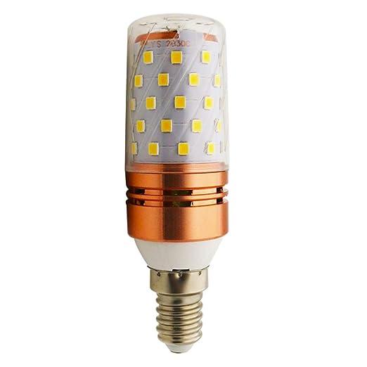 LED maíz bombilla 12W / E14 3000K blanco cálido LED Candelabros bombillas, LED vela bombillas