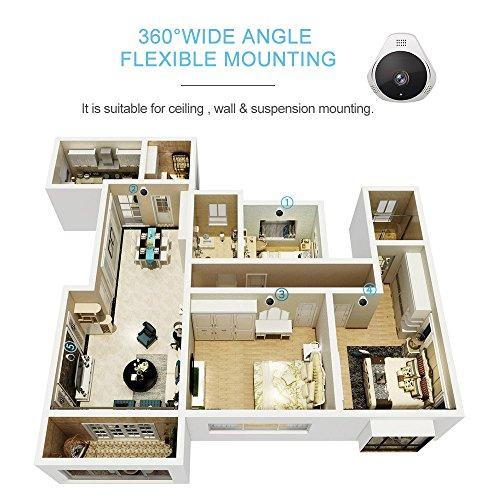 Smart Home Security Camera,UNIOJO Mini 360° HD 1080P WiFi Wireless