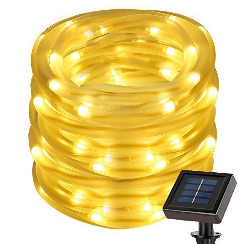 50 Led Solar Rope Lights White