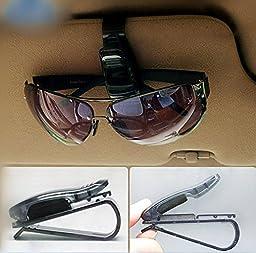 RELIAN 7-Pack Car Visor Sunglasses Clip Holder(Black)