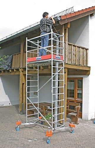LIH130 Escalera Andamio Modular, 1500 mm x 600 mm Plataforma, 4 m Longitud: Amazon.es: Industria, empresas y ciencia