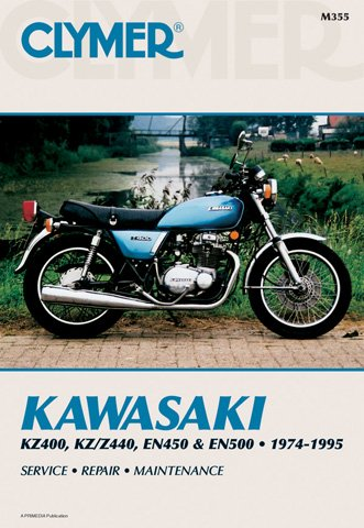 1974-1995 Kawasaki KZ400/Z440 EN450/500  MANUAL KAW KZ400/Z440 EN450/500 74-95, Manufacturer: , Manufacturer Part Number: -AD, Stock Photo - Actual parts may vary. - Clymer M355