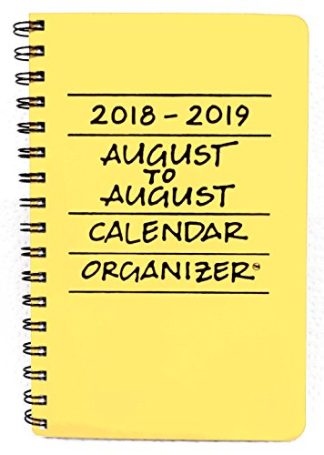 2018-2019 August to August Calendar Organizer- Lemon by Mixed Role Productions