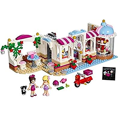 building blocks Friends Heartlake Cupcake Café 439pcs with Free Storage. Compatible with 41119: Toys & Games