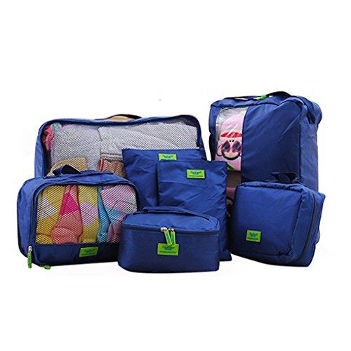 Extsud Set di 7 Pezzi Organizzatori da Viaggio Impermeabili 74445607192