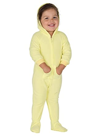 3006493ff Amazon.com  Footed Pajamas - Mellow Yellow Infant Hoodie Onesie ...