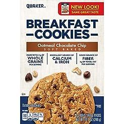Quaker Breakfast Cookies, Oatmeal Chocol...