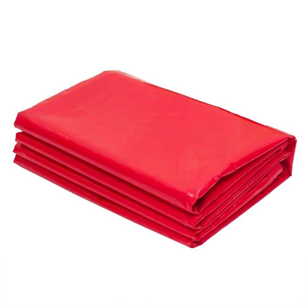 GLJ Schabendes Tuch Tuch Tuch des Roten Messers, Das Verdickende Sonnenschutzregenproofstoff Wasserdichte Plane LKW-Isolierung Oxford-Segeltuch-Sonnenschutzplane Verdickt Plane (Farbe   rot, größe   2x2m) 0a639f