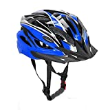 Bormart Adult Cycling Bike Helmet,Lightweight Adjustable Bicycle Helmet Specialized for Men Women Mountain Bicycle Road Safety Protection (black+bue) Review