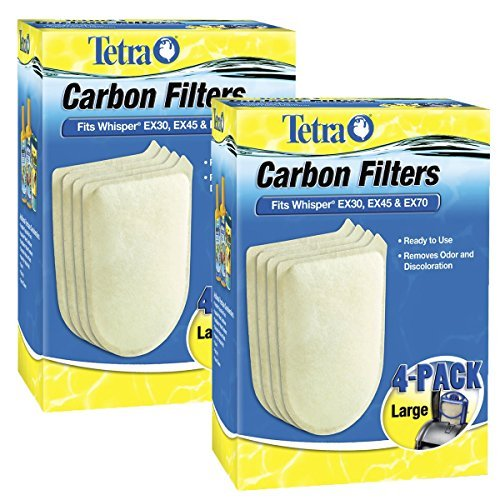 Tetra 26332 Whisper EX Carbon Filter Cartridges, Large, 8-Pack by Tetra