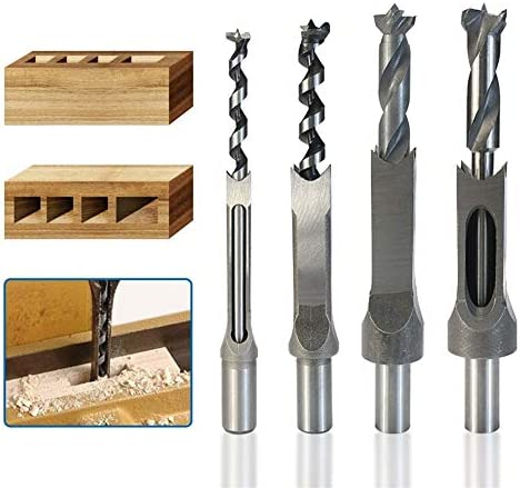 SHENYUAN 6-25mm Twist Drill Bit High Speed Steel Woodworking Square Hole Saw Drill Mortise Chisel Wood Drill Bit (Size : 19MM)