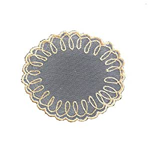 Gold Embroidered Coaster