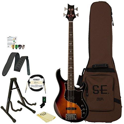 PRS SE Kestrel Bass Guitar with Accessories, Tri-Color Sunburst