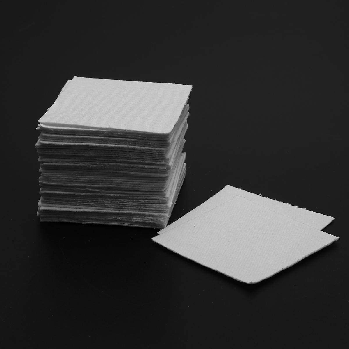 OKIl 50Pcs 8x8cm Bullseye Hot Pot Thinfire Kiln Paper for DIY Glass Fusing