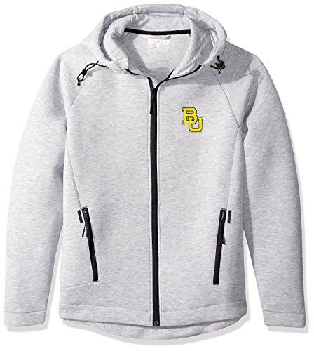 Levelwear LEY9R NCAA Baylor Bears Adult Men Titan Insignia Full Zip Hooded Jacket, Medium, Heather ()