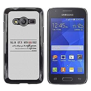 Paccase / SLIM PC / Aliminium Casa Carcasa Funda Case Cover para - BIBLE Fall In Love With God - Samsung Galaxy Ace 4 G313 SM-G313F